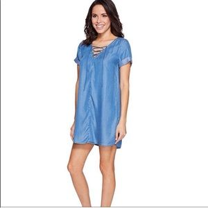 Lucky Brand Chambray Dress  NWT